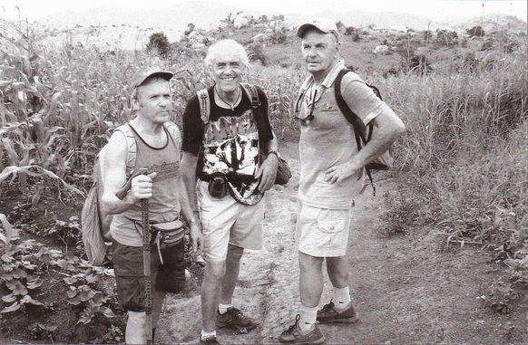 Gaetano con Eugeniio e Mario in Malawi