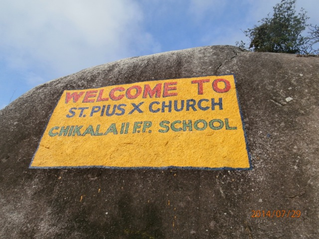 La chiesa e la scuola sono dedicate a Papa Pio X°