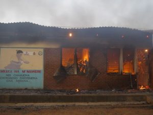 incendio ospedale di Balaka
